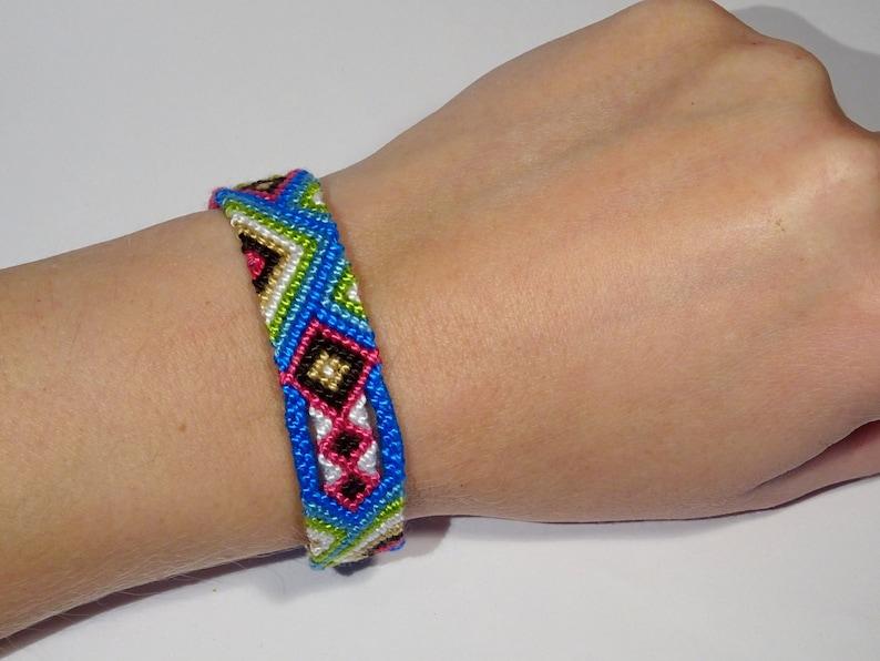 Friendship bracelet  wayuu ethnic aztec tribal macrame gypsy image 0