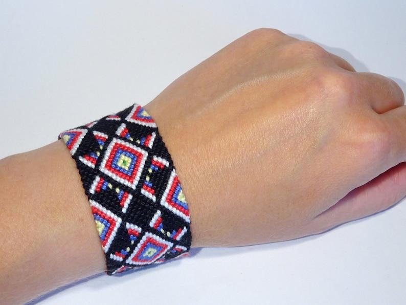 Friendship bracelet  macrame braided handwoven ethnic tribal image 0