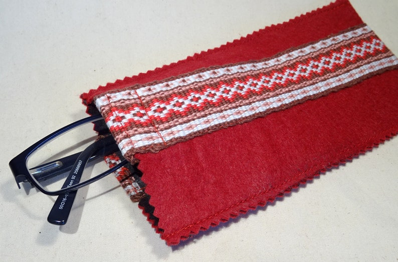Handwoven cover for glasses with handwoven belt brillenkoker image 0