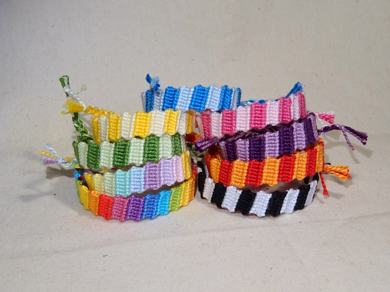 Kids friendship bracelet  macrame children ibiza rainbow image 0