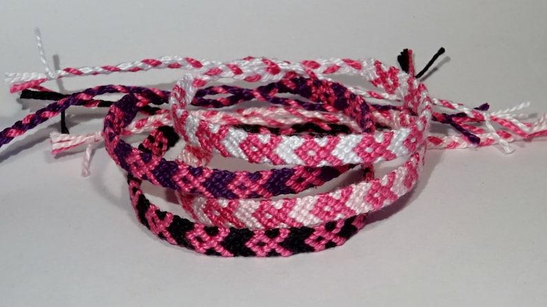 Pink Ribbon bracelet  breast cancer awareness handmade image 0