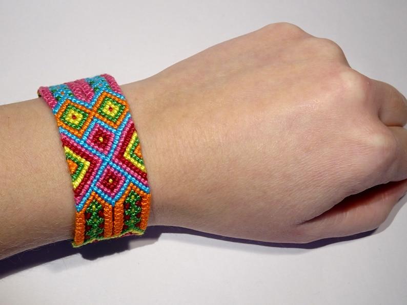 Wayuu friendship bracelet  macrame gypsy mochila hippie image 0
