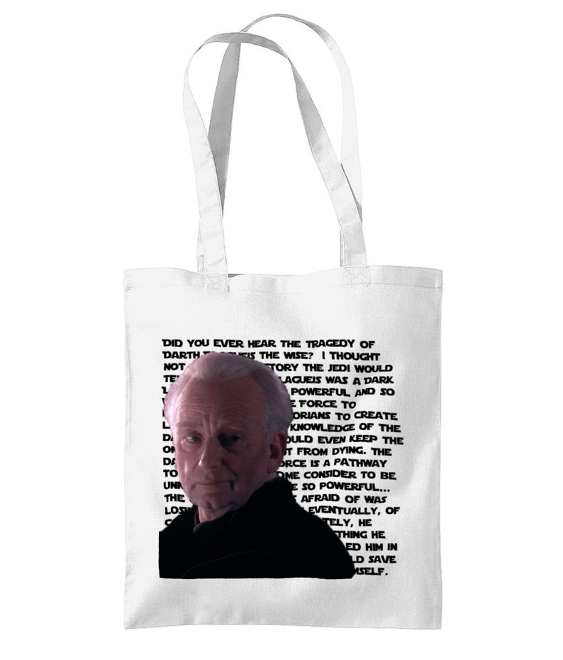 Revenge of the Sith Prequel Meme Tote Bag The Tragedy of Darth Plagueis the Wise?
