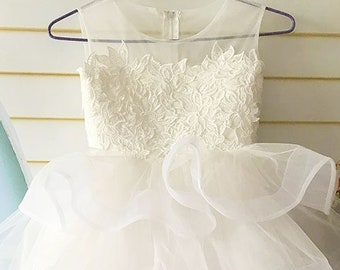 Flower Girl Dresses Tulle with Lace