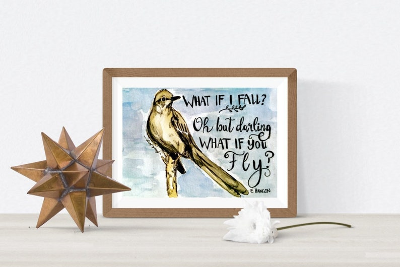 Inspirational wall decor print with mat motivational image 0