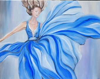 dance gifts,Dance 2,flight,original oil painting,gift