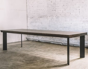 Oak Dining Table / Industrial Dining Table / Industrial Furniture / Rustic  Dining Table / Rustic Furniture / Handmade Table