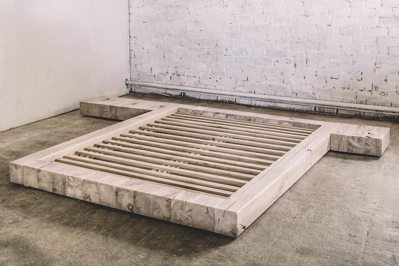 Lit en chêne / industriel lit meubles rustique meubles meubles | Etsy
