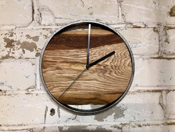 Grosse Wanduhr Holz Uhr Personalisierte Wanduhr Home Etsy