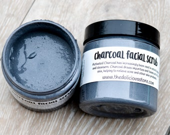 Activated Charcoal Face Soap Charcoal Facial Scrub Charcoal Face Scrub Acne Scrub Face Wash for Oily Skin Face Cleanser