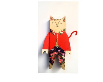 Mothers' Day. Chic cat gift! cat decoration.