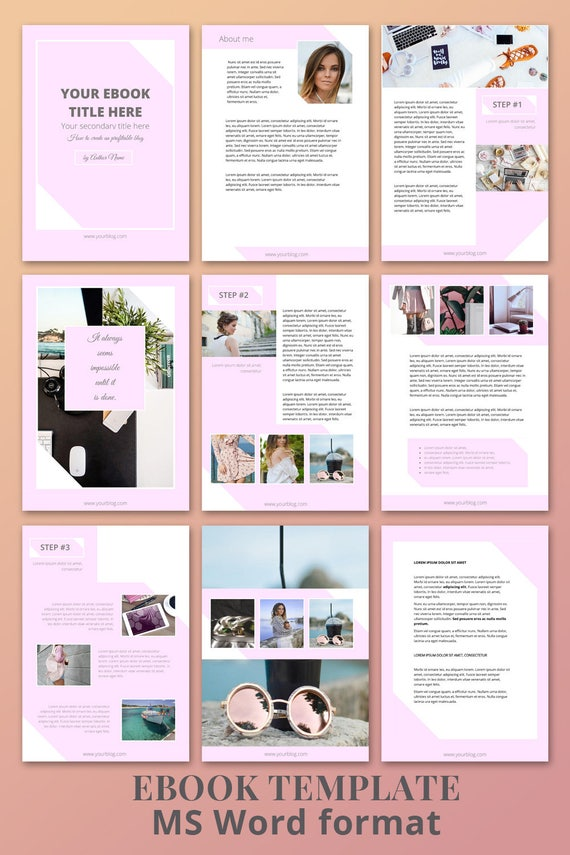 ebook template 10 pages magazine template word template etsy
