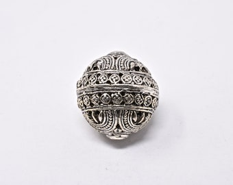 36x31mm  Silver Trade Beads Vintage Silver Beads from India SKU-TB-713
