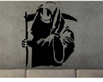 Grim Reaper Stencil Etsy