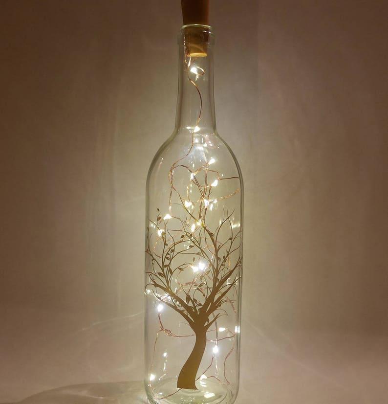 Wine Bottle Light String Light Decor Fairy Light Bottle Etsy