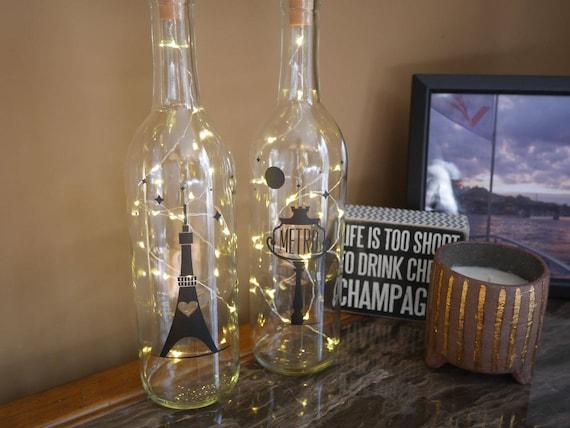Paris Decor Bedroom Paris Wine Bottle Lights Fairy Lights Eiffel Tower Metro Stars Bedroom Fairy Lights Fairy Light Bottle