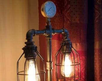 Industrial Pipe Lamp; Gauged Lamp; Caged Lamp; Edison Lamp; Table Lamp; Desk Lamp