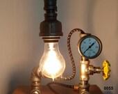 Industrial Pipe Lamp, Gauged Pipe Lamp, Gauge Lamp, Pipe Lamp, Desk Lamp, Table Lamp