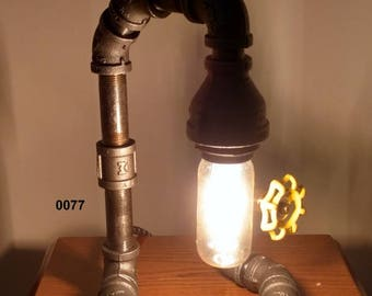 Industrial Pipe Lamp, Edison Lamp, Desk Lamp, Table Lamp