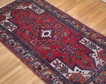 3 X 6 Turkish Rug, Traditional Wool Rug, Area Rug, Vintage Rug, Handmade Rug, Handknotted Rug, Medallion Rug, Boho, Eclectic, Free Shipping