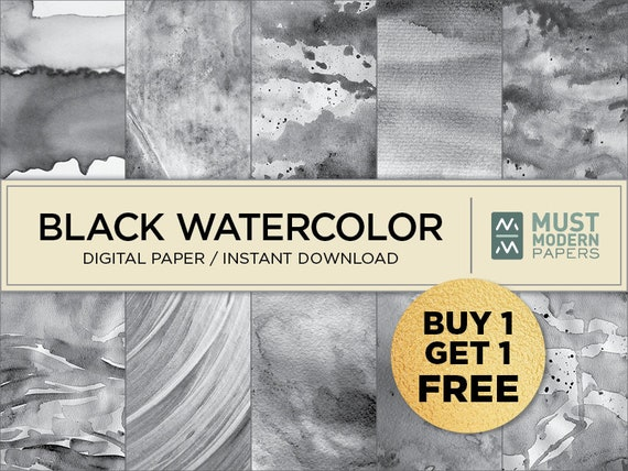 Watercolor Paper Soft Gray Watercolor Digital Papers Grey Digital Paper Commercial Use Instant Download Watercolour Digital Paper