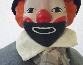 Vintage House of Lloyd Emmet Kelly Weary Willy porcelain clown, Vintage hobo tramp clown, Vintage House of Lloyd, clowns.