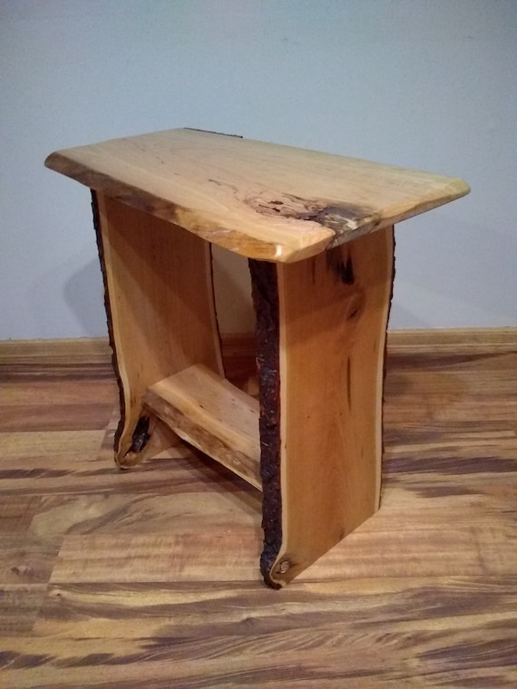 Live Edge End Table, Live Edge Night Stand, Cherry Side Table,Cherry Table,  Live Edge Cherry Side Table, Live Edge Cherry End Table