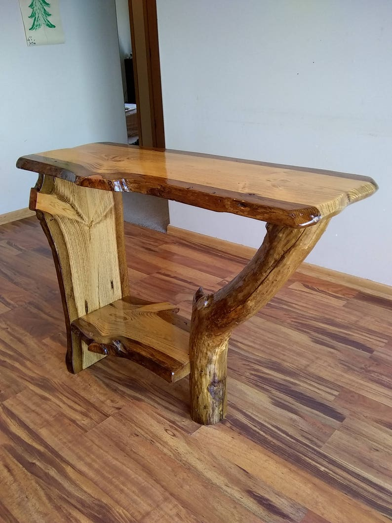 Pleasant Live Edge Console Table Live Edge Sofa Table Live Edge Entryway Table Console Table Hall Way Table Rustic Sofa Tabla Log Sofa Table Alphanode Cool Chair Designs And Ideas Alphanodeonline