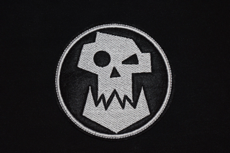 Warhammer 40k Ork Patch Logo Symbol Jacket Sew On Applique Etsy