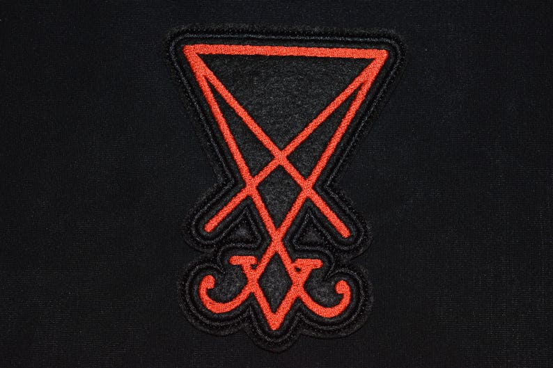 Seal of Lucifer Luciferian Satan Patch Jacket Sew Merch BB Gift satan devil  demonic Baphomet snakes Occult gothic