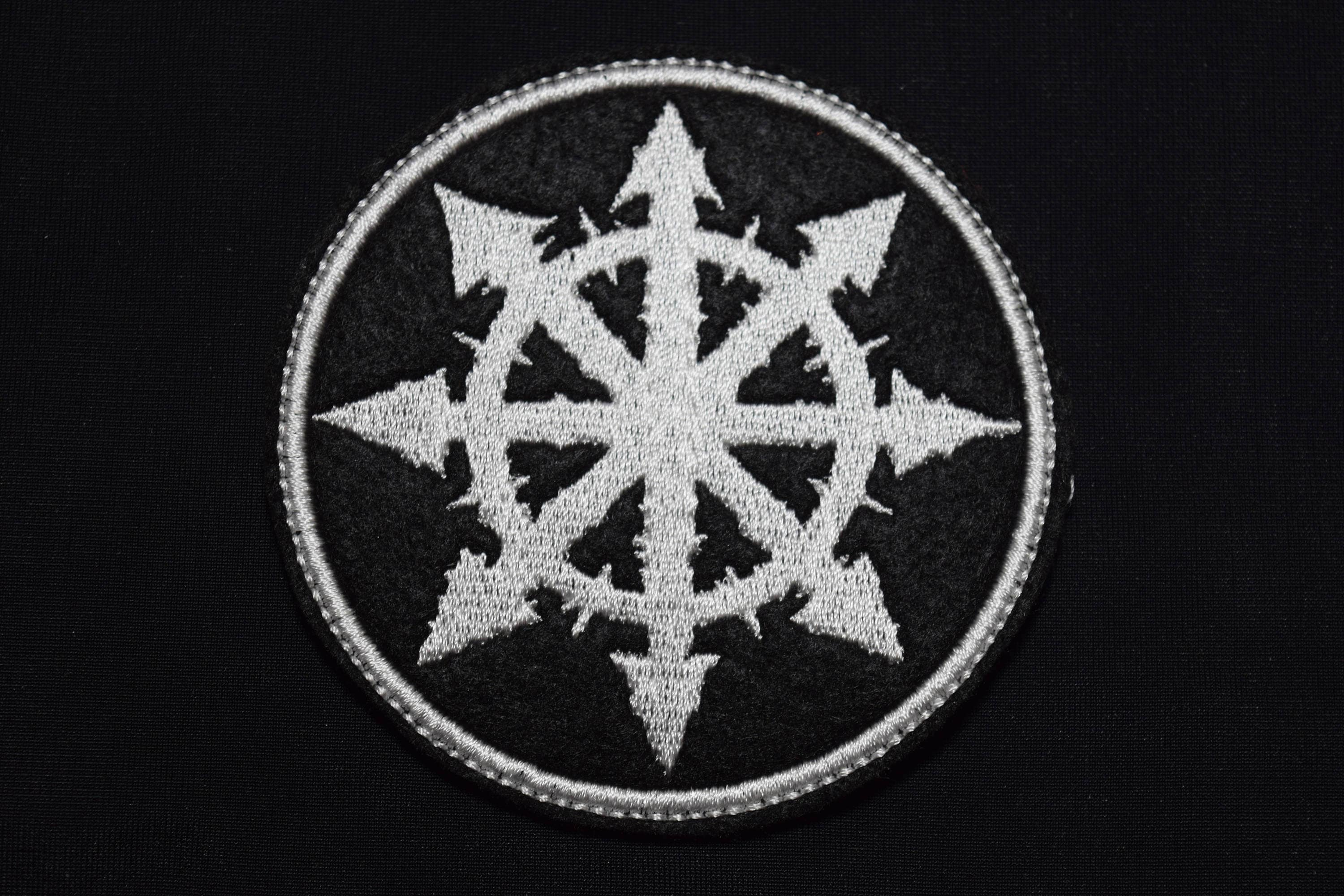 Chaos Cross Patch Chaosphere Logo Eight Pointed Star Mark Of Etsy