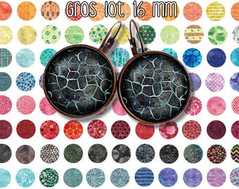 16 mm id 1 Digital Collage Sheet Printable Instant Download for art jewelry scrapbooking bottle caps magnets pins
