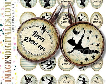 PETER id Digital Collage Sheet Printable Instant Download for art jewelry scrapbooking bottle caps magnets pins