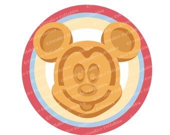Mickey Mouse Head SVG Waffle Magic Kingdom Food Clipart Printable Mickey Mouse Ears SVG Disney World SVG