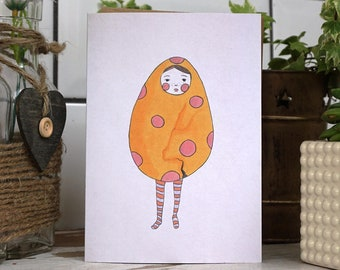 Eggman Birthday card- Funny card- Funny birthday- Easter card- Funny love card- Blank card