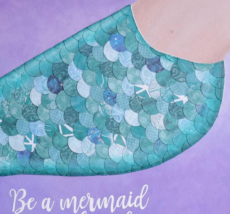 Mermaid Decor Girls Room Art Gifts for Her Mermaid Art Mermaid Wall Art. Mermaid Art Print Gifts Under 25 Girls Room Decor
