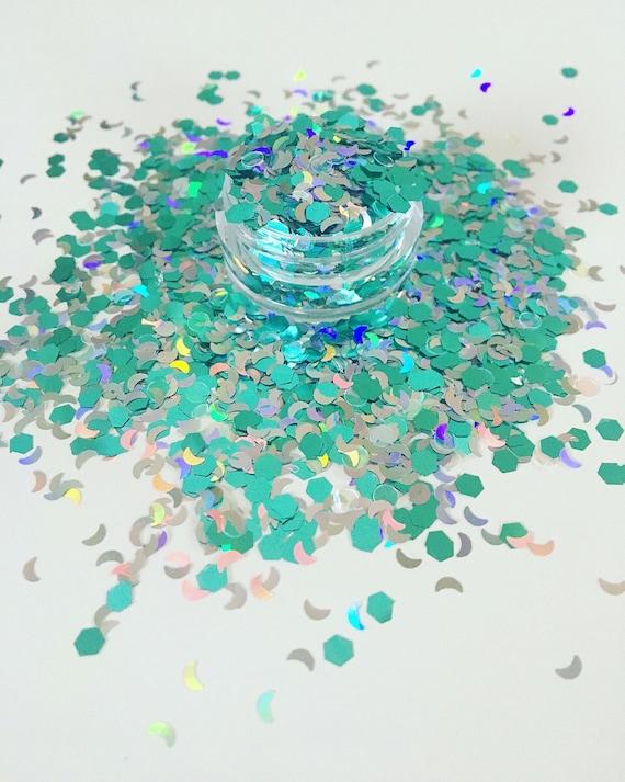 Mystic moon chunky festival glitter make up mix