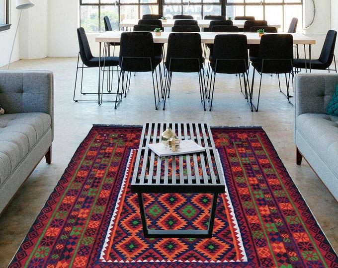 Beautiful Afghan Kilim, Maimana Kilim, Large Area Kilim, Rug, Oriental Kilim, Big size Kilim, Flat Rug, Maimana kilim, Kilim Rug, Afghan Rug