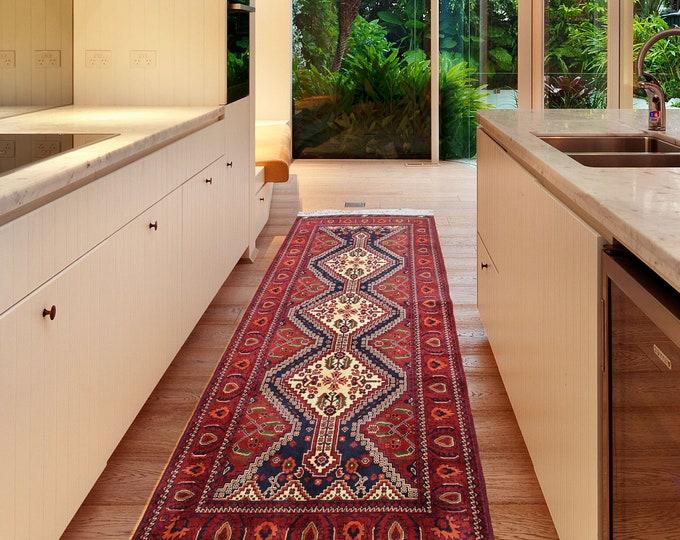 Stunning Handmade Super Fine Quality Afghan Turkman Beljik Runner Rug, Hallway runner Geometric Design Made with Merino Sheep Wool