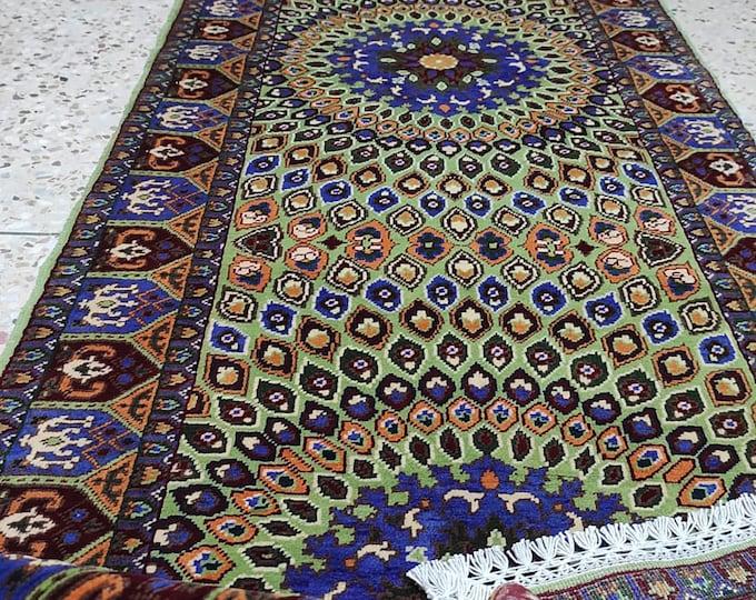 3x10 modern furniture, abstract accent rug, turkey rug, carpet bag purse, sheepskin rug, wall hanging, turkish kilim, abstract rug entryway