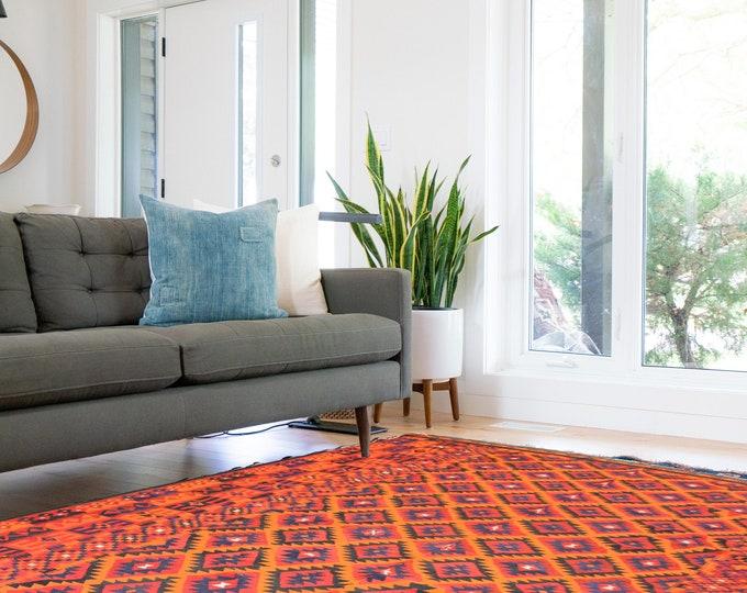 9x15 Ft Vintage Handmade Kilim Rug, Persian Rug, Kilim Rug, Large size rug, Red Rug, Floor Rug, Area Rug, Afghan Rug, Woven Rug, Persian Rug