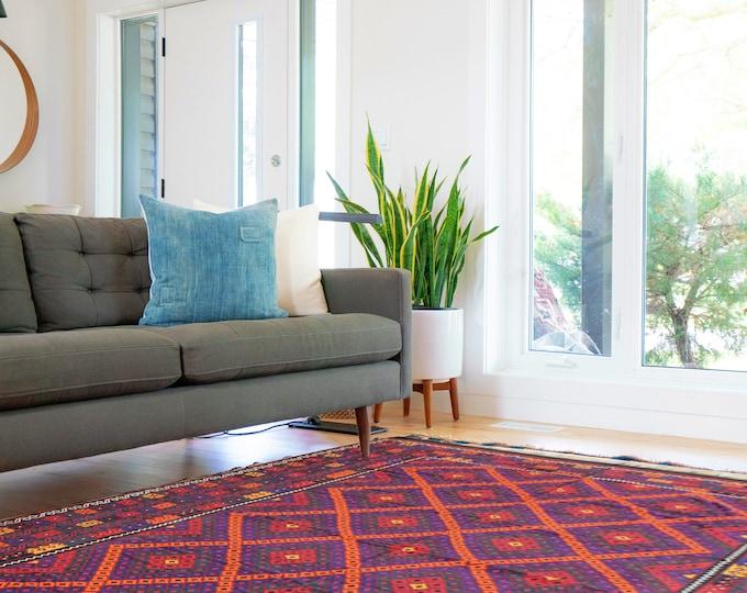 10x17 Kilim Rug/ Extra Large Rug/Vintage Area Rug/Multi Colors Rug/Kilim Rug/Kelim/ Kilim/Afghan/Turkish kilim/ Vintage rug