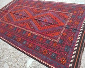 6x9 woven rug, rag war rug, hand made rug, tribal rug, turkey rug, bathroom rug, morocco rug, hooked rugs large, office rug, afghan rug