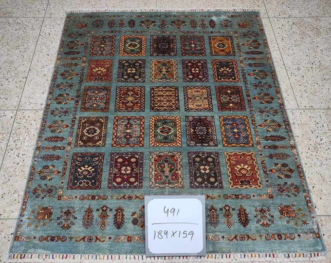5x7 Ft Excellent Hand-Knotted Turkish Design Brand New Afghan handmade rug, large area rug, tribal rug, red persian rug