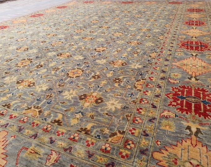 10x13 traditional rug, scandinavian decor, oushak vintage rugs, housewarming gift, rugs for living room, vintage rug, modern rug, faded rug