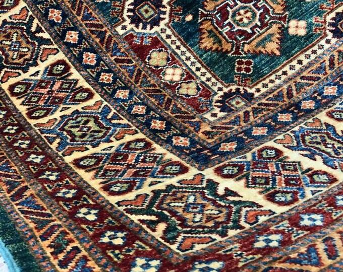 """Afghan Kazak super fine Handmade Kazak Area Rug 6'94"""" X 9'92"""""""