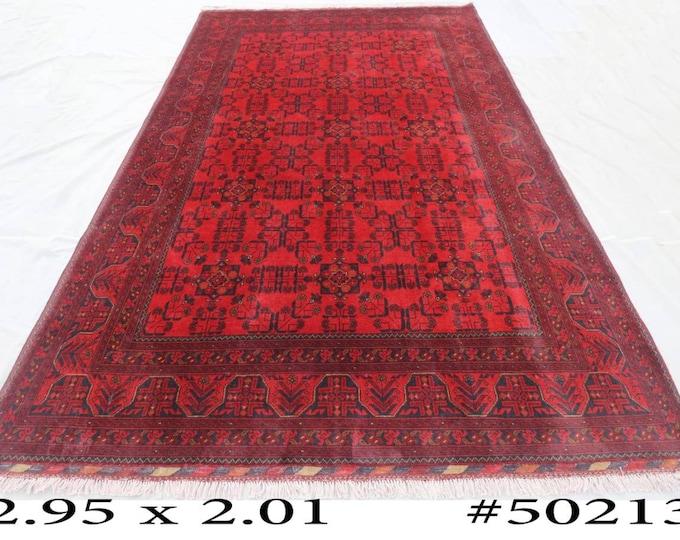 Afghan Tribal Rug 7 x 9'6 Ft Oriental Handmade Khal Mohammadi Turkoman Carpet, Persian Rug, Turkish Rug, Turkmen Rug, Baluch Rug, Morrocan