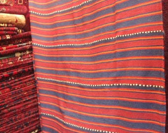 Gorgeous vintage handmade Blanket made by Afghan Tukmen in a perfect condition 9'4 X 5'5 ft