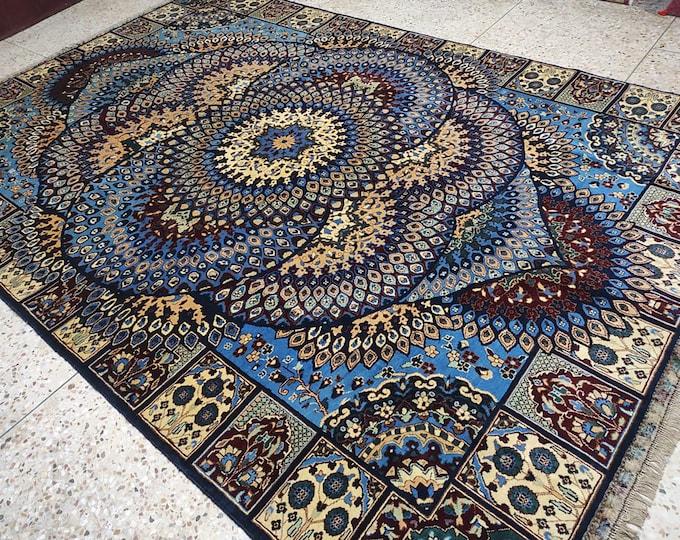 7x10 dusty rose rug, modern furniture, faded rug, large floor rugs, tribal rug, rugs for living room, oriental rug, hand hooked rugs, afghan