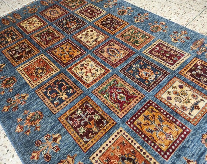 4x7 abstract accent rug, doormat rug, entryway rug, hooked rugs large, nomadic rug, sheepskin rug, bohemian rug, medallion rug, temple rug